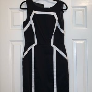 Black and white lined dress